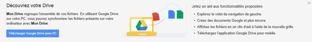 Google Drive téléchargement