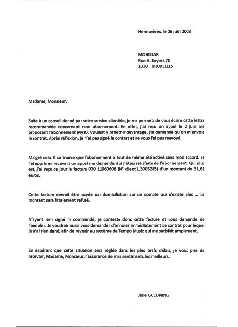 lettre demande de rendez vous client