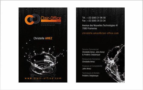Clair Officebr Cartes De Visite